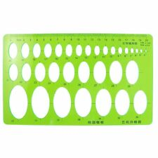Students Transparent Green Plastic Chart Oval Template Ruler DT