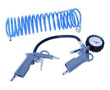 Druckluft Set 3-teilig Reifenfüller Kompressor Ausblaspistole inkl. 5 m Schlauch