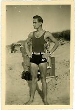 1)  VINTAGE Snapshot Photo German Youth Boy Young Men Male Physique Swimwear Gay