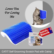 FCATIT FELINE CAT SCRATCH PAD SELF GROOMING MASSAGE BRUSH COMB TOY CATNIP