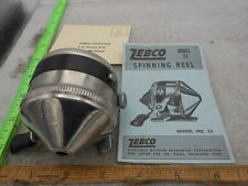 Vintage Zebco 33 Spinner Spincast Fishing Reel Usa Metal Foot With Papers Nice