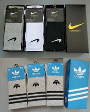 4 Paar Nike/Adidas Herren|Damen Sportsocken Größe M (38-44) schwarz/Weiß/grau