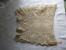 """Linens & Textiles Vintage Crochet Lace 58""""X16"""" Table Runner Raime/Cotton New"""
