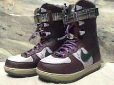 NIKE Zoom Force 1 Snowboard Snow Boots Women's Size 5 Purple Flowers 334842-231
