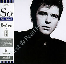 PETER GABRIEL SO CD MINI LP OBI + bonus tracks Genesis Kate Bush Sting Fripp new