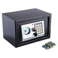 SECURE DIGITAL STEEL SAFE KEY ELECTRONIC MONEY SAFETY BOX SECURITY -HOME OFFICE