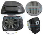 12V LOW PROFILE POWERED MOTORISED ROOF FAN AIR VENT EXTRACTOR MOTORHOME DOG VAN