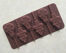 Silicone Snowflake Christmas tree Lollipop Chocolate Mould  Ice Cube  Lolly Kid