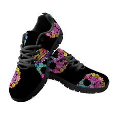 Skull Printed Women Casual Shoes Black Sneakers Athletic Trainers Outdoor Travel