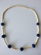bisutería joya mujer de madera CADENA DE MADERA AZUL LARGO 70cm collar cadena #5