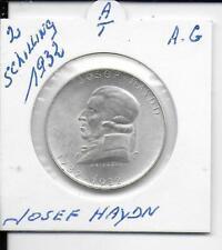autriche 2 schilling 1932 josef haydn argent