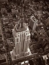 Aerial view of Empire State Building, digital print from B&W photo, 24x18 image