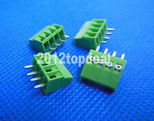 "10pcs 4 Poles/4 Pin 2.54mm/0.1"" PCB Universal Screw Terminal Block Connector"