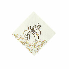 50Th Anniversary Beverage Napkins - Party Supplies - 16 Pieces