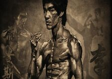 Bruce Lee Martial Arts Photo Poster Print ONLY Wall Art A4