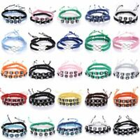 2pcs Wish Adjustable Handmade Braided Bracelet Friendship Lovers Family Gift Hot