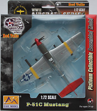 "EASY Model-p-51c Mustang ""Tuskegee Airmen/Red Tails"" WWII 1:72 Nuovo/Scatola Originale Plane"