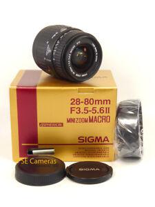 SIGMA AF 28-80MM F3.5-5.6 II MACRO ASPH ZOOM LENS MINOLTA / SONY ALPHA A MOUNT