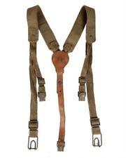 Original Czech Army Y-Strap canvas & leather suspenders harness shoulder
