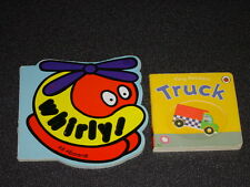 2 Board Books, Toddler Books, Whirly- helicopter & Tiny Rockers - Truck
