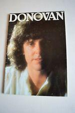 More details for donovan programme september 1981 date in back of programme