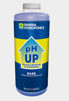 General Hydroponics pH Up Base Nutrient Solution 1 qt Maintain & Heighten Levels