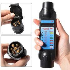 Car Truck Trailer 7 Pin Cable Plug Socket Tester Wiring Circuit Light Test TALBJ