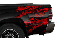 Quarter Panel Wrap Graphic Sticker Decal For Toyota Tacoma 2005-2015 RED SKULL