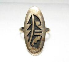 ESTATE Alvin Taylor Signed Native American HOPI Sterling Silver Ring C1929