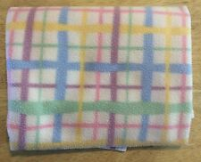 Soft Dreams Pastel Plaid Striped Baby Blanket Pink Blue Yellow Green