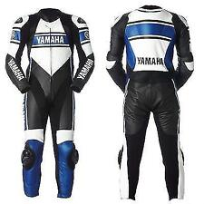 **YAMAHA-Motorcycle Racing Leather Suit-MotoGp-CE Approved Protectors**