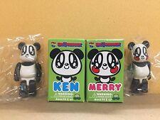 "Medicom Lovers House 100% Bearbrick Set of 2  ""KEN & MERRY"" Be@rbrick"
