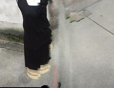 Vtg 60s Black Wool A Line Jumper Dress W Bow Big Buttons Brady Mod