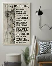 Lion King To My Daughter Remember Whose You're Love Your Mom Canvas Framed