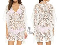 AU SELLER Womens OverSize Lace Tunic Kaftan Kimono Top Beach Cover Up sw069