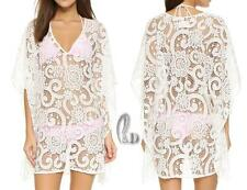 AU SELLER Womens OverSize Lace Tunic Kaftan Kimono Top Beach Cover Up sw069