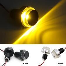 Motorcycle Turn Signal Light Grip Bar Plug Strobe Side Marker End LED Handlebar