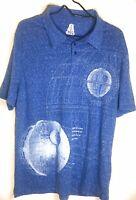 Star Wars Death Star Polo Shirt XL BLUEPRINT GRAPHIC