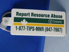 ONTARIO MINISTRY OF NATURAL RESOURCES  MNR TIPS KEY CHAIN VINTAGE ADVERTISING