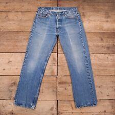 "Mens Vintage Levis Red Tab 501 1980s Blue Denim Jeans USA Made 34"" x 30"" R10368"