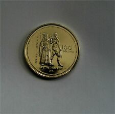 CANADA $100 DOLLARS GOLD COIN, MONTREAL OLYMPICS 1976