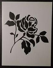 "Flower Rose 8.5"" x 11"" Custom Stencil FAST FREE SHIPPING"