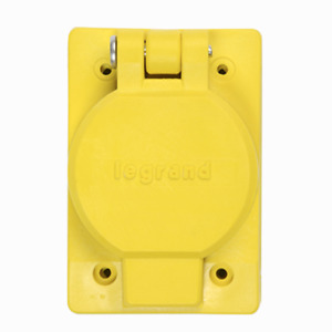 P&S 6500 COVER FOR 15/20A SB 15A TL water tight  receptacle locking yellow