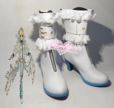 Fate/Extra CCC Saber Bride Saber Nero White Halloween Girls Cosplay Shoes Boots
