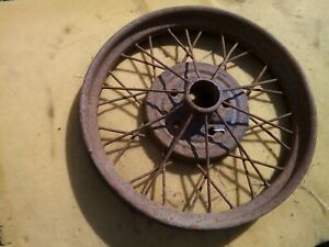"1928 Model A Ford 21"" inch WIRE SPOKE WHEEL Original 5 lug --"