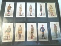 1938 Players MILITARY UNIFORMS BRITISH OVERSEAS set  50 Tobacco cards complete