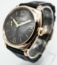 Panerai Radiomir 513 pam00513 Rose Gold Oro Rosso Brown Dial MSRP $17,700