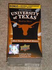 2011 Upper Deck Football Cards Texas Longhorns  (Unopened)