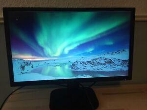 Acer UW.MXOXEE.001 LED HD Monitor - Black 21.5 Inch KA220HQ VGA HDMI DVI