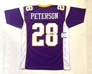adrian peterson autographed jersey